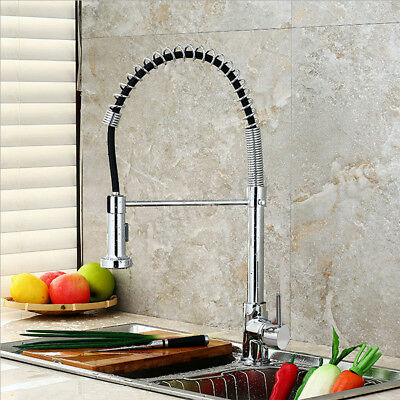 Spring Brushed Nickel Swivel Spray Kitchen Sink Faucet Pull Out  Spray Mixer Tap