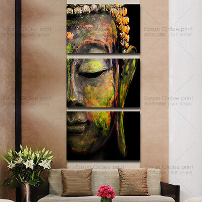 Huge modern abstract oil painting print on canvas buddha picture for wall decor