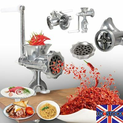 Stainless Steel Manual Meat Grinder Hand Operated Meat Mincer Grinder Kitchen