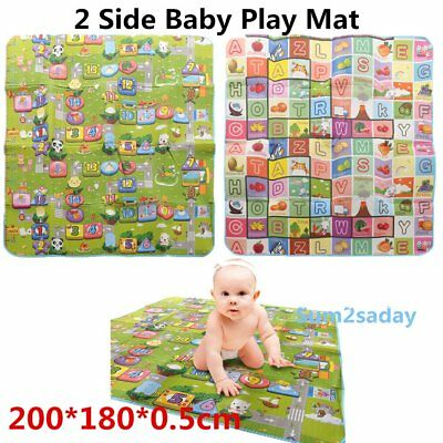 KIDS CRAWLING EDUCATIONAL GAME PLAY MAT SOFT FOAM PICNIC CARPET UK Ship