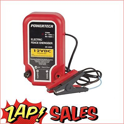 5%Off with PERCENT5: POWERTECH Electric Fence Energiser 10km 12VDC 85mA Animal