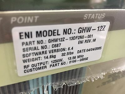GHW-12Z RF Generator ...Refurbished