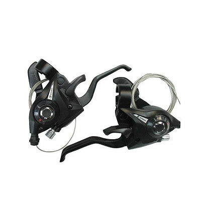 Bicycle Bike Cycling 24 Speed Left Right Brake Levers Shifter With Shift Cable