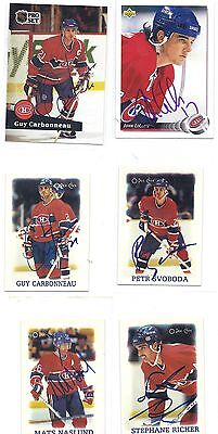 1988 OPC #31 Stephane Richer Montreal Canadiens Signed Autographed Sticker
