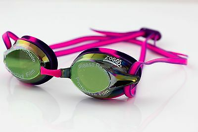 Racespex Mirror Performance Adult Swimming Goggles Pool Training 4 Colours ZOGGS