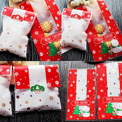 18*10Cm 5 - 100 Pcs Wholesale Snowman Christmas Candy Cookies Biscuits Gift Bags