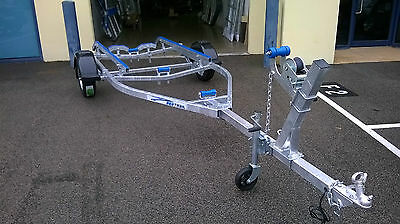 Boat trailer. 4.7 metres galvanised frame. 13 inch wheels     PH 1300403213