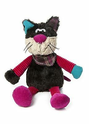 Cute Cat Stuffed Animal Soft Toy Teddy with Neckerchief and Whiskers