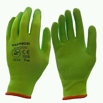 Gardening Grab & Grip Gloves, Flex Latex Palm, Pruning,work, Mens Ladies Kids