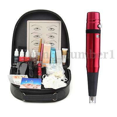 Complete Microblading Tattoo Kit Eyebrow Permanent Makeup Tattoo Machine Pen Set