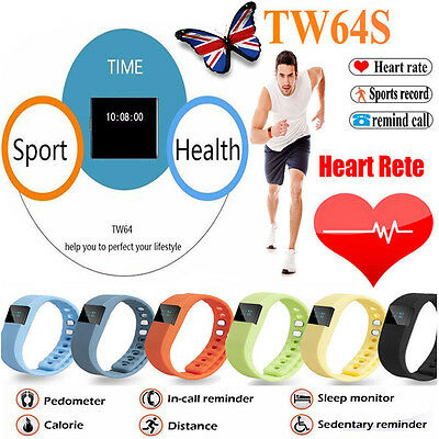 TW64 Bluetooth Smart Sport Watch Bracelet Step Calorie Counter Tracker Pedometer