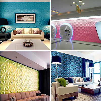 3D Embossed Clover Wall Panel Wallpaper Signboard TV Background Decor 16 Colors