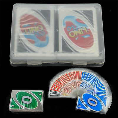 Hot Family Party Game Transparent H2O Waterproof Plastic UNO Card the Table Game