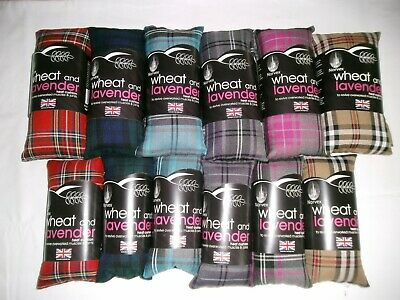 TARTAN  HEAT PACK. Microwaveable / Freezable. Wheat bag - WITH LAVENDER  2 SIZES