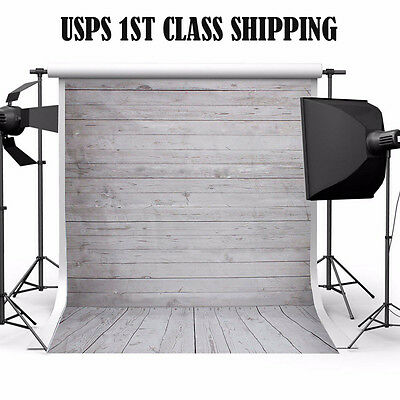 5x7ft Wood Wall Studio Prop Photography Cloth Background Photo Backdrop USPS