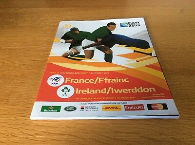 Rugby World Cup 2015 France V Ireland Official Match Programme