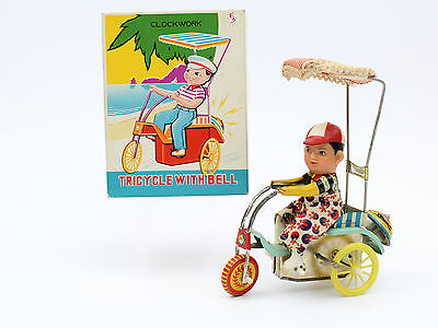 Red China Shanghai Tin Toy ME MF MM UC MS 710 TRICYCLE WITH BELL MB! working