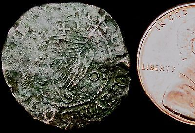 S607: 1601 Irish Elizabeth 1st Hammered Penny - Emergency Regal Issue for Troops