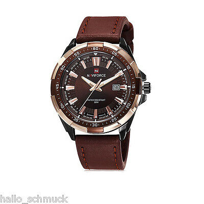 1 Herren Automatik Armbanduhr Quartzuhr Analog Business Watch Geschenk Braun