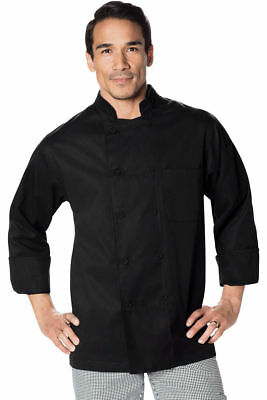 Dickies Chef Adult 10 Covered Buttons Long Sleeve Classic Chef Coat. DC44