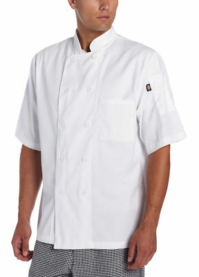 Dickies Chef Adult Short Sleeve 10 Pearl Button Classic Chef Coat. DC49