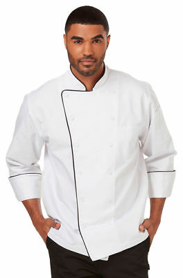 Dickies Chef Adult Comfort Double Needle Stitching Long Sleeve Chef Coat. DC42B