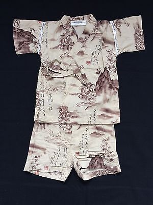 Japanese jinbei for 90cm tall boys, toddler, Japan import, used, dragons (G1134)