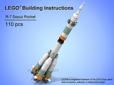 LEGO Soyuz Rocket Custom MOC Instructions ONLY