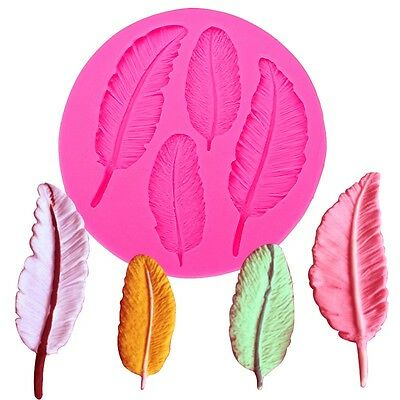 Feather Mould Silicone Cake Cupcake Decoration Backing Icing Mold *UK Seller*