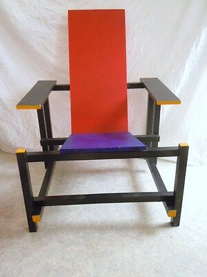 Fauteuil chaise red and blue Gerry Rietveld