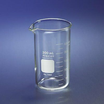 Corning Pyrex 1060-1L Glass 1L Graduated Tall Form Berzelius Beaker,  6/PK