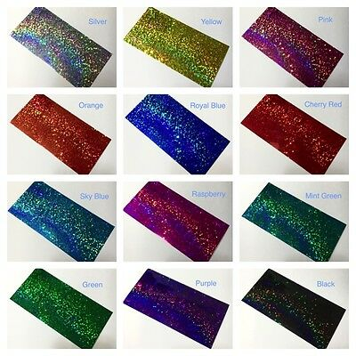 Any Color Glittering Sign Vinyl. 8 x 12 Inch 3 Sheets, Holographic Sequins