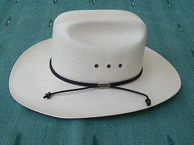 NEW STETSON CARSON COMFORT NATURAL 10X WESTERN COWBOY HAT with TAG SIZE 7 1/8