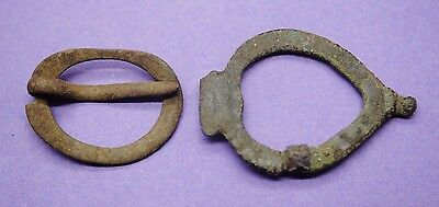 Two Medieval bronze brooches 14th-15th century AD