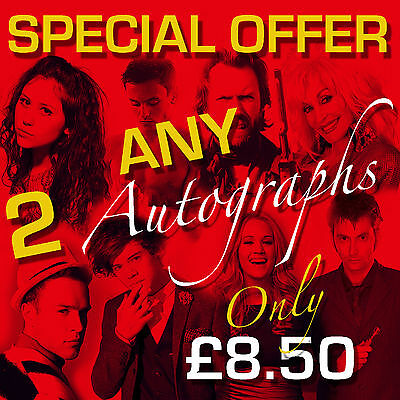 SPECIAL OFFER - ANY 2 MOUNTED AUTOGRAPHS (framed & CDs not included)