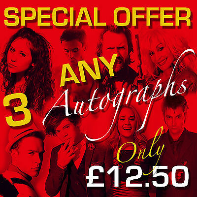 SPECIAL OFFER - ANY 3 MOUNTED AUTOGRAPHS (framed & CDs not included)