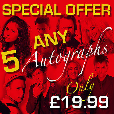 SPECIAL OFFER - ANY 5 MOUNTED AUTOGRAPHS (framed & CDs not included)