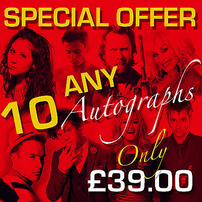 SPECIAL OFFER - ANY 10 MOUNTED AUTOGRAPHS (framed & CDs not included)