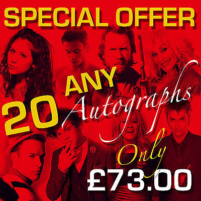 SPECIAL OFFER - ANY 20 MOUNTED AUTOGRAPHS (framed & CDs not included)