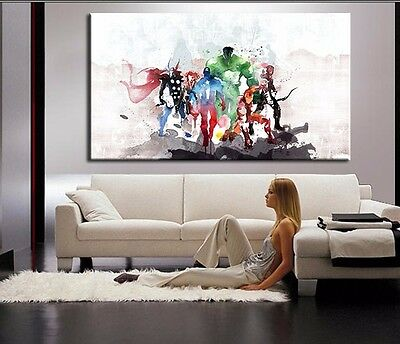 HD Printed Modern Abstract Oil Painting Wall Decor Art - 1 Panels The Avengers