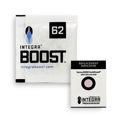 50 Pack Integra Boost RH 62% 8 gram Humidity 2 Way Control Humidor Pack