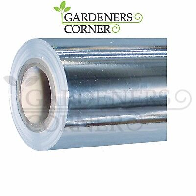 Hydroponics Indoor Grow Growing Silver Reflective Mylar Sheeting 1.2m x 15m