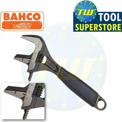 "Bahco 8"" Adjustable Spanner 200mm Wrench - EXTRA WIDE 38mm REVERSIBLE Jaw 9031P"