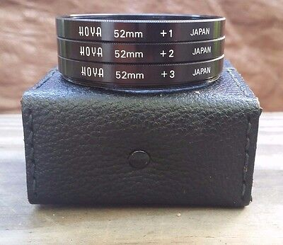 HOYA 52mm Coated Close-Up Lens Set With Pouch +1 +2 +3
