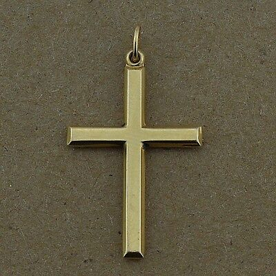 14k Yellow Gold Religious Cross Pendant/Charm