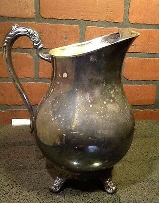 Vintage FB Rogers Silver Co. 1883 Silver Plate Water Pitcher with Ice Lip #3707