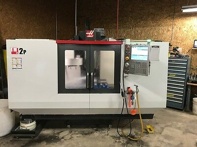 Used Haas TM-2 P CNC Toolroom Mill Vertical Machining Center 4th Ready ATC 2015