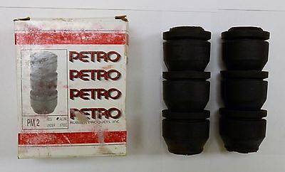 "Box of 2 ~ PETRO PM2,  2 3/8"" Rubber swab cups with Aluminum inserts, NOS"