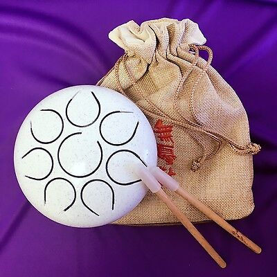 "WuYou 5"" 13cm  Steel Tongue Drum/Tank Drum, Portable- to Play anytime any where!"