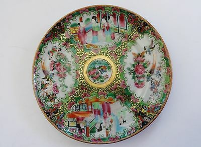 19th Century Chinese Export Porcelain Rose Medallion Plate